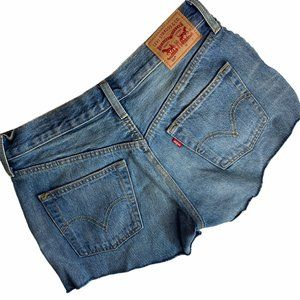 Vintage Levi's 501 Cutoff Shorts Tasseled Distress